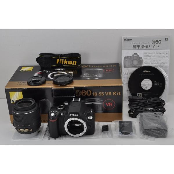 Nikon D60 ボディ ブラック + AF-S DX NIKKOR 18-55mm F3.5-5.6G VR レンズキット