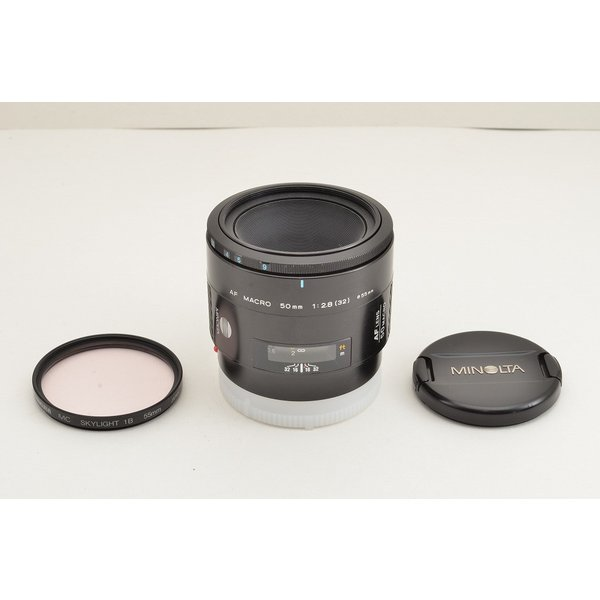 MINOLTA ミノルタ AF 50mm F2.8 MACRO SONY ソニー αマウント 単焦点レンズ フィルター付