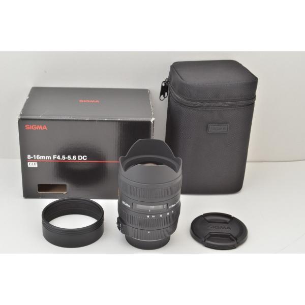 ★美品★SIGMA シグマ 8-16mm F4.5-5.6 DC HSM Nikon ニコン用 Fマウント APS-C 元箱付