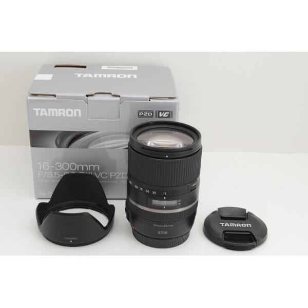 ★超美品★TAMRON タムロン 16-300mm F3.5-6.3 Di ? VC PZD MACRO B016 Canon キヤノン用 EF-Sマウント APS-C フード付