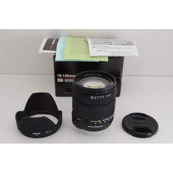 ★美品★SIGMA シグマ 18-125mm F3.8-5.6 DC OS HSM Nikon ニコン用 Fマウント APS-C 元箱付