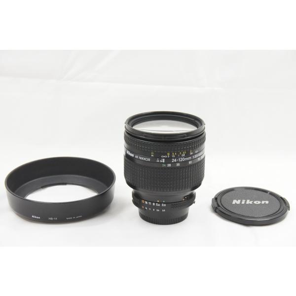 Nikon ニコン AF ZOOM NIKKOR 24-120mm F3.5-5.6D IF ズームレンズ フード付