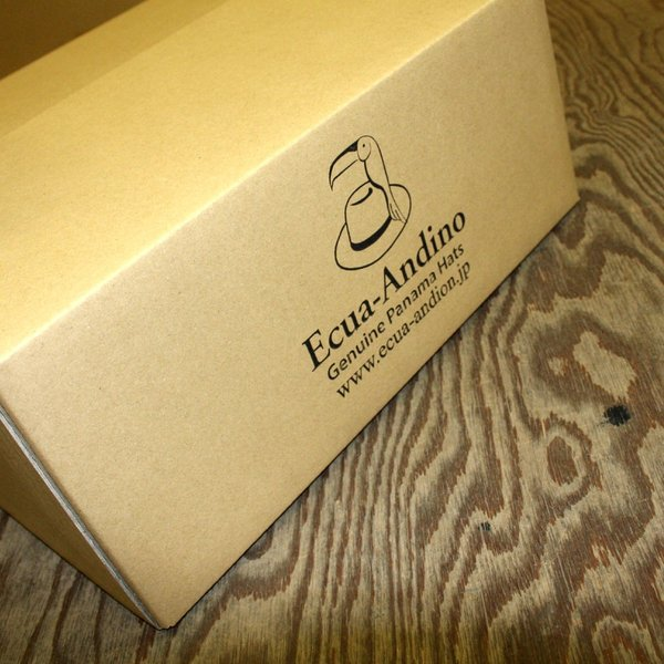 パナマハット エクア・アンディーノ レディースコレクション スクエア― ホワイト パナマハット証明書付き オフィシャルバッグ
