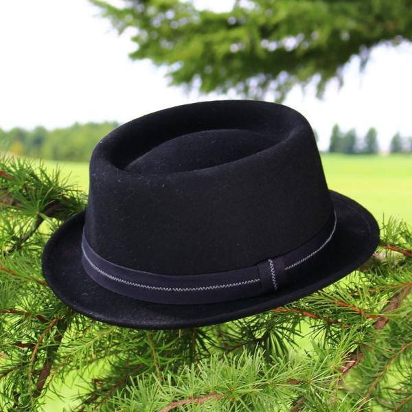 フェルトハット 中折れ帽子 ロックンロール ブラック|ammax