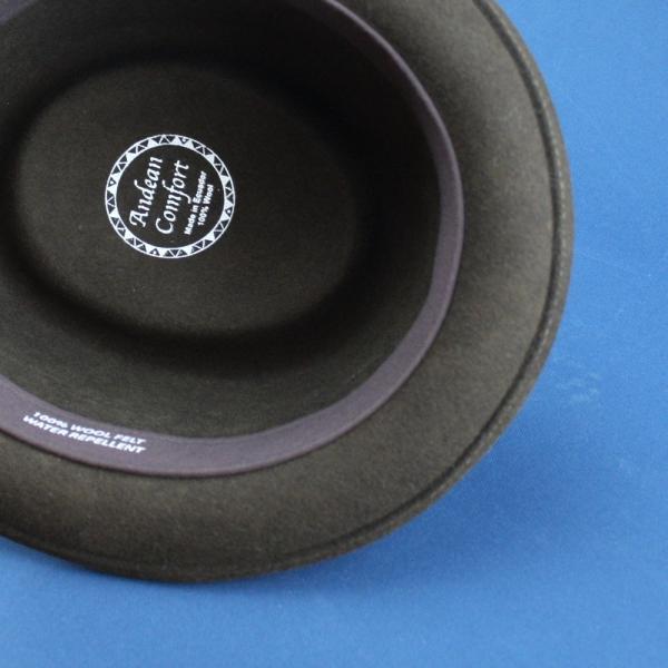 フェルトハット 中折れ帽子 ロックンロール ブラック|ammax|04