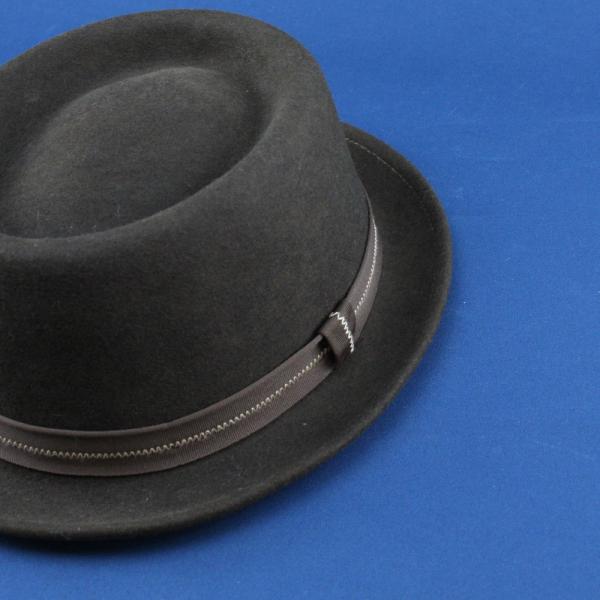 フェルトハット 中折れ帽子 ロックンロール ブラック|ammax|05