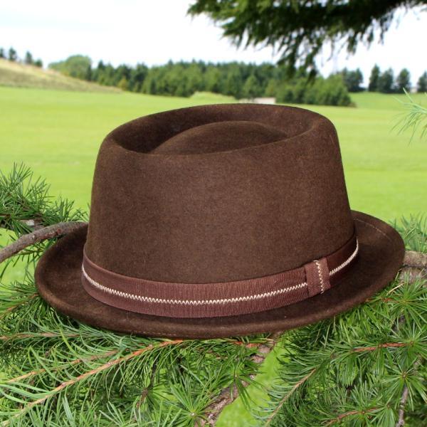 フェルトハット 中折れ帽子 ロックンロール ブラウン|ammax|02