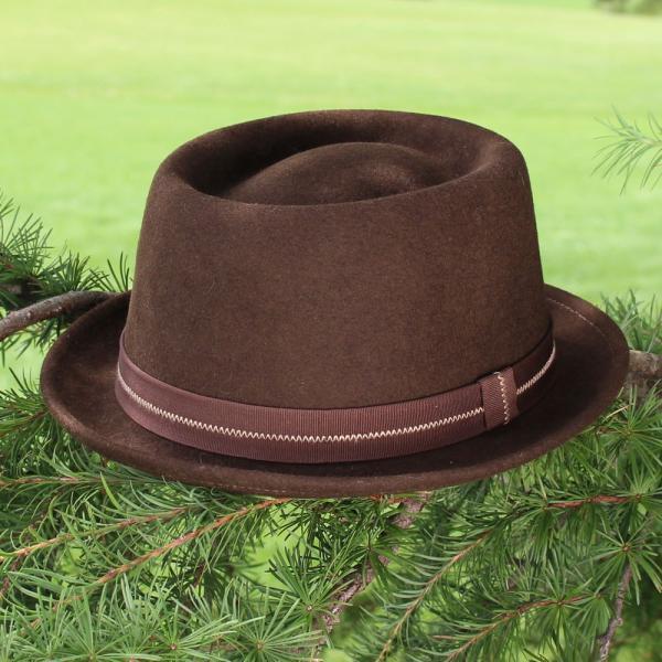 フェルトハット 中折れ帽子 ロックンロール ブラウン|ammax|03