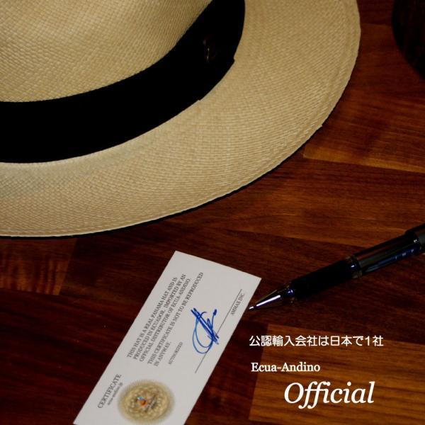 パナマハット エクア・アンディーノ エクスプローラー 独特なテイストのパナマ帽子 OFFICIAL輸入商社証明書付 ammax 12