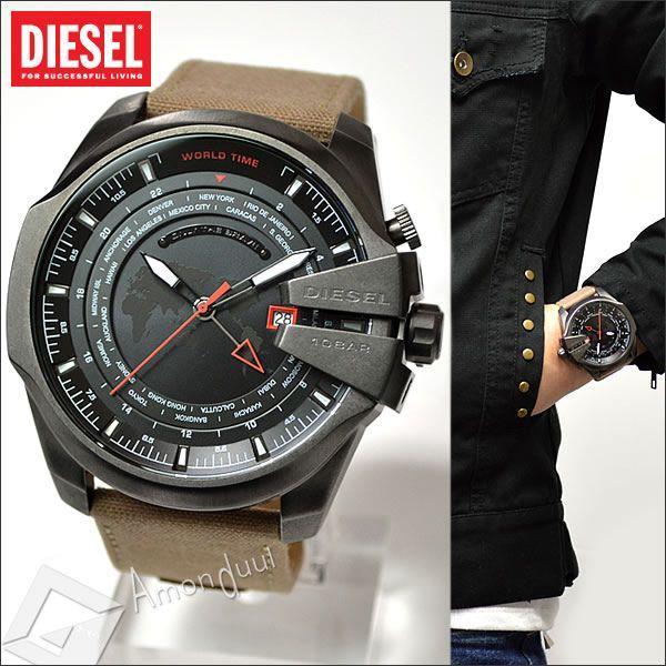 DIESEL メガチーフ ディーゼル ミリタリー腕時計ワールドタイム メンズ DZ4306 マスターチーフ|amonduul|02