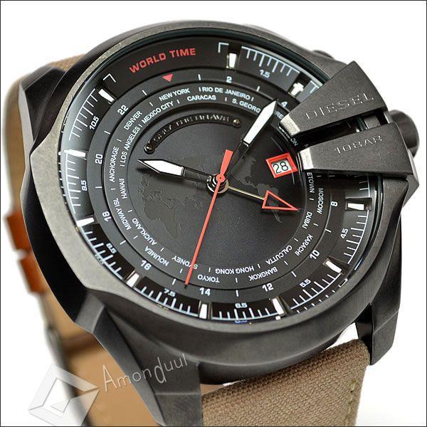 DIESEL メガチーフ ディーゼル ミリタリー腕時計ワールドタイム メンズ DZ4306 マスターチーフ|amonduul|04