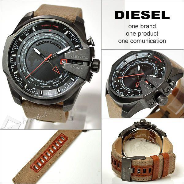 DIESEL メガチーフ ディーゼル ミリタリー腕時計ワールドタイム メンズ DZ4306 マスターチーフ|amonduul|05