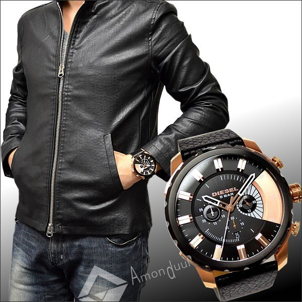 ディーゼル DIESEL クロノグラフ腕時計 ディーゼル メンズ DZ4347 ストロングホールド|amonduul|06