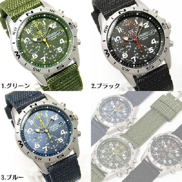 逆輸入セイコー 逆輸入SEIKO ミリタリー クロノグラフ腕時計|amonduul|06