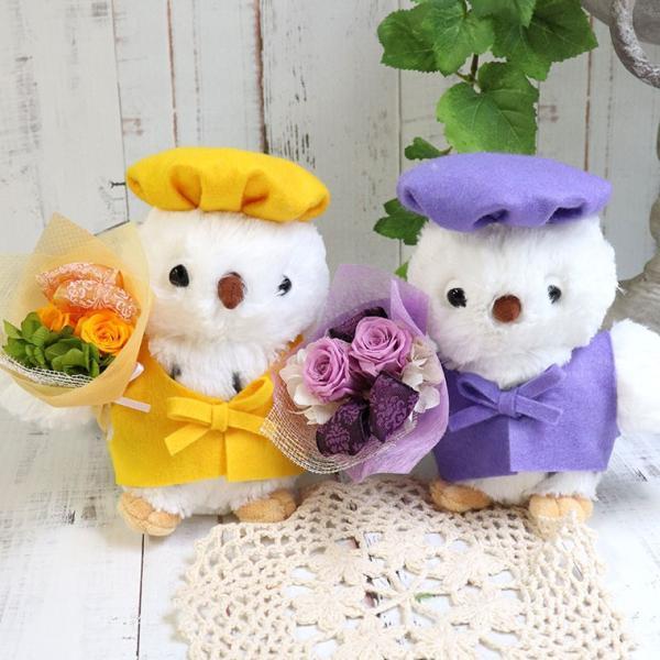 古希のお祝い 喜寿のお祝い 傘寿のお祝い 米寿のお祝い プレゼント  還暦祝い 祖母 贈り物 ちゃんちゃんこ  プリザーブドフラワー ふくろうのお祝い(花束付)|ampoule-shop|10