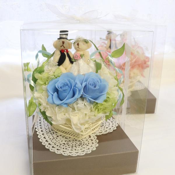 結婚式 電報 祝電 結婚祝い ギフト プレゼント 贈り物 おしゃれ プリザーブドフラワー ギフト お祝い 花 ぬいぐるみ くま ハートのキャンディローズ ampoule-shop 08