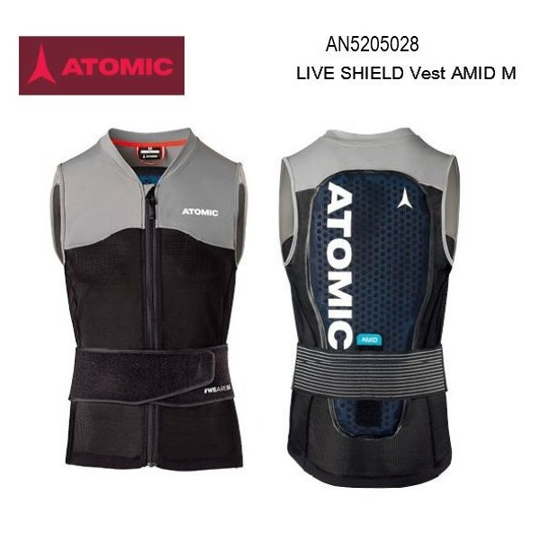 Vest SHIELD ATOMIC 2020 AMID LIVE 黒グレー バック