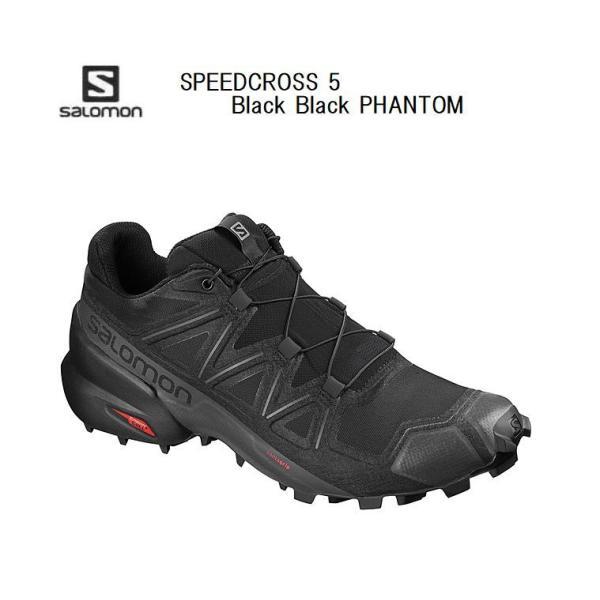 サロモン 21FW SALOMON SPEEDCROSS 5 Black Black Phantom L40684000 スピードクロス5 トレイルランニング シューズ メンズ
