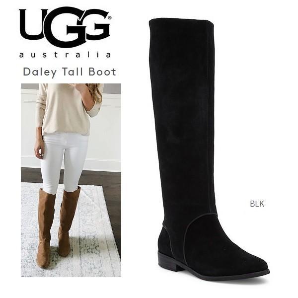 UGG Daley Tall アグ ニーハイ ロングブーツ スエード 黒 ブーツ レディース 正規品・送料無料 US直輸入