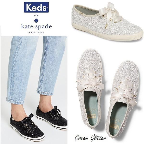 8cc94b827adeb Keds for Kate Spade ケッズ ケイトスペード コラボ Champion Glitter グリッター スニーカー クリーム 正規品 送料