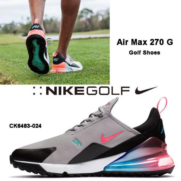 ナイキ NIKE Air Max 270 G エアマックス270 メンズ ゴルフシューズ スパイクレス ナイキゴルフ グレー 靴 CK6483-024 送料込み US正規品 US直輸入