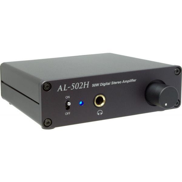 Amulech    AL-502H  小型・薄型・高音質・Hi-Fi 50W+50W(4Ω)ステレオデジタル・パワーアンプ+ヘッドホンアンプ 電子ボリューム採用|amulech-store