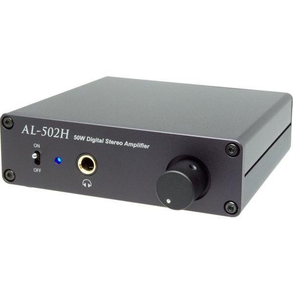Amulech    AL-502H  小型・薄型・高音質・Hi-Fi 50W+50W(4Ω)ステレオデジタル・パワーアンプ+ヘッドホンアンプ 電子ボリューム採用|amulech-store|03
