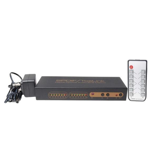 Amulech   AL192-I6O2MU  ハイレゾ音源192KHz//16Bit/24Bit対応 光デジタル6入力を光デジタル2出力へ個別に切換が可能なマルチプレクサ(分配器) リモコン対応|amulech-store|03