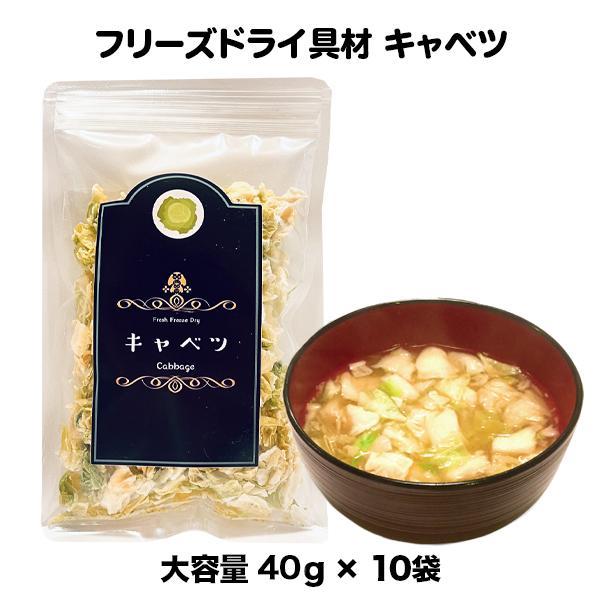 キャベツ フリーズドライ スープ みそ汁 具材 調味料 ケース 箱入(45g×10袋入)