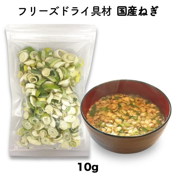 長ねぎ 白ねぎ フリーズドライ スープ みそ汁 国産 具材 調味料(10g)