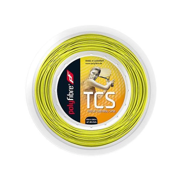 ポリファイバー TCS(1.15/1.20/1.25/1.30mm) 200Mロール 硬式テニスガット ポリエステルガット Polyfibre TCS (1.15/1.20/1.25/1.30)200m roll strings|amuse37