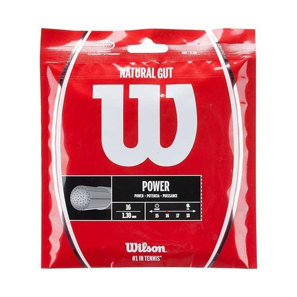 「パッケージ品」ウィルソン(Wilson) 2017 ナチュラルガット1.25mm(WRZ999900) 1.30mm(WRZ999800)