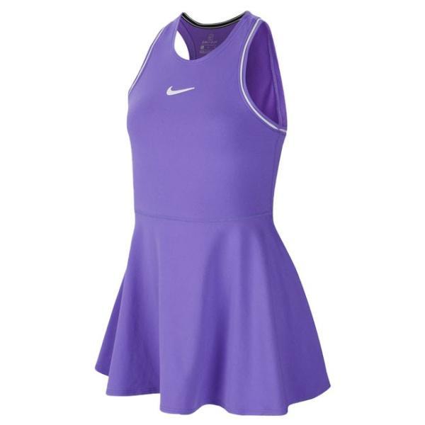ナイキ(NIKE) 2019 FA ジュニア(ガールズ) コート DRI-FIT ドレス AR2502-550サイキックパープル×ホワイト(19y6mテニス)|amuse37