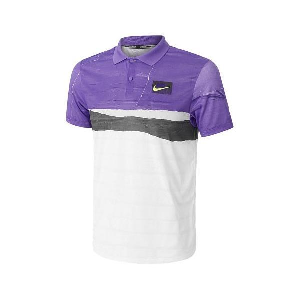 [USサイズ]ナイキ(NIKE) 2019 FA メンズ コート アドバンテージ ポロシャツ AT4155-550サイキックパープル(19y8mテニス) amuse37