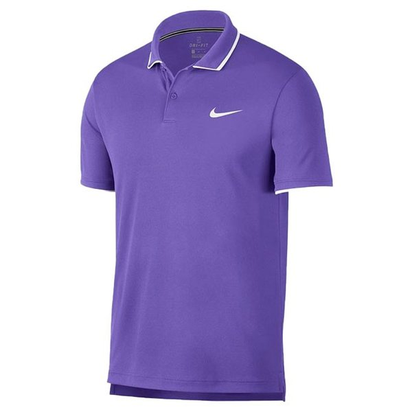 [USサイズ]ナイキ(NIKE) 2019 FA メンズ コート DRI-FIT チーム ポロシャツ 939137-550サイキックパープル×ホワイト(19y6mテニス)|amuse37