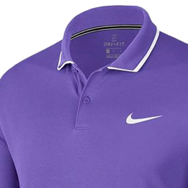 [USサイズ]ナイキ(NIKE) 2019 FA メンズ コート DRI-FIT チーム ポロシャツ 939137-550サイキックパープル×ホワイト(19y6mテニス)|amuse37|03