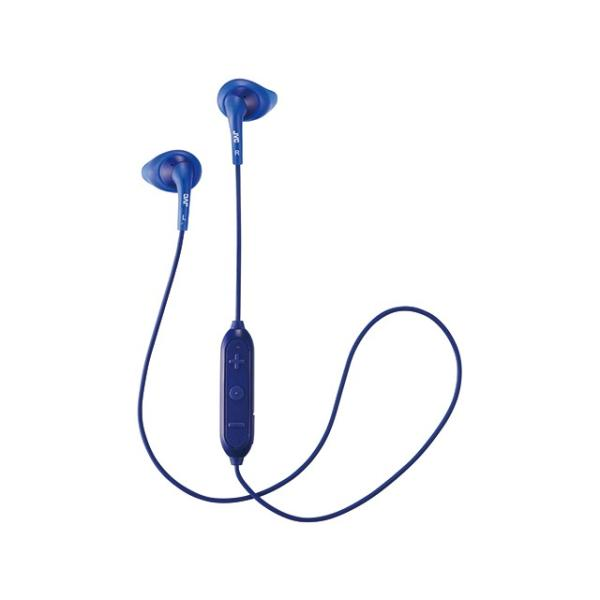 JVC Bluetoothヘッドホン HA-EB7BT-A ブルー「ぴったりフィットイヤーピース」を採用したBluetoothイヤホンの画像