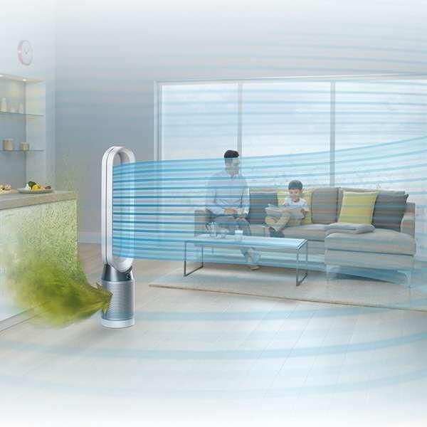ダイソン 空気清浄機能付きタワーファン Dyson Pure Cool TP04WSN [ホワイト/シルバー] ○|amuseland|05