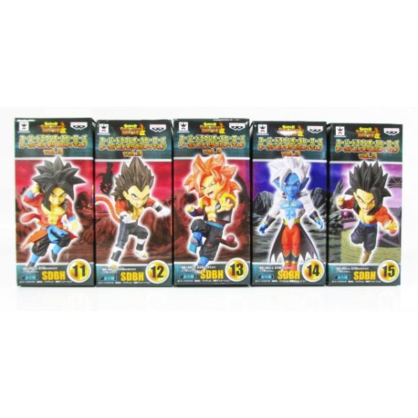 スーパードラゴンボールヒーローズ ワールドコレクタブルフィギュア vol.3 全5種セット|amyu-mustore