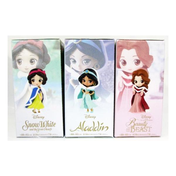 Disney Characters Q posket Petit Winter Costume Jasmine Snow White Belle 3 set