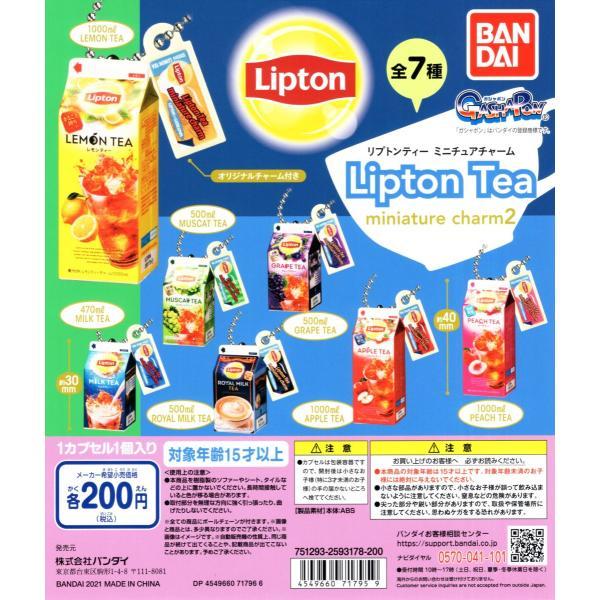 リプトンティー ミニチュア チャーム2 Lipton Tea miniature charm2 全7種セット ミニチュア コンプリートセット 予約