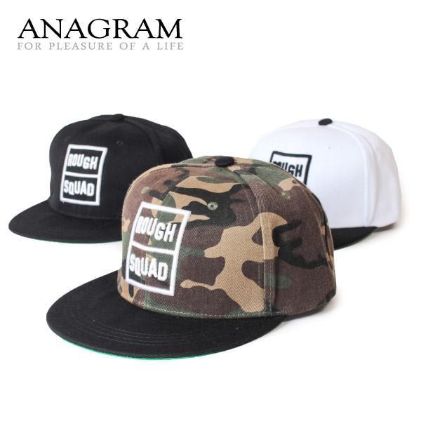 クーポン配布中 アナグラム ANAGRAM フラットバイザー ベースボールキャップ 3D刺繍 スナップバック 帽子 メンズ レディース anagram
