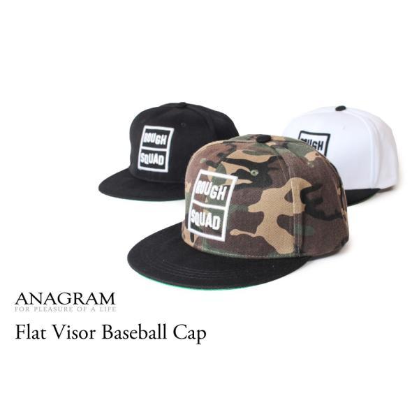 クーポン配布中 アナグラム ANAGRAM フラットバイザー ベースボールキャップ 3D刺繍 スナップバック 帽子 メンズ レディース anagram 08