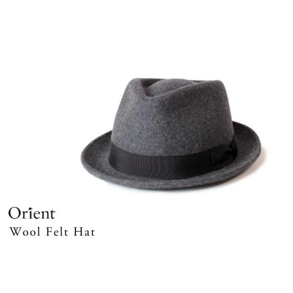 クーポン配布中 オリエント Orient フェルトハット 中折れハット M59cm L61cm XL63cm 大きいサイズ キングサイズ 帽子 メンズ レディース anagram 07