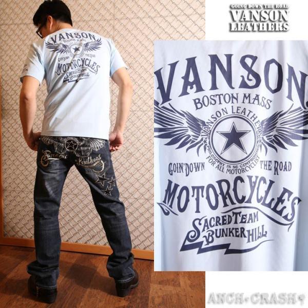 当店別注!VANSON バンソン 新作 吸汗速乾 ドライ半袖Tシャツ ACV-901 スタンダードサイズ|anch-crash|13