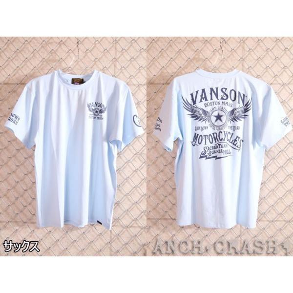 当店別注!VANSON バンソン 新作 吸汗速乾 ドライ半袖Tシャツ ACV-901 スタンダードサイズ|anch-crash|14