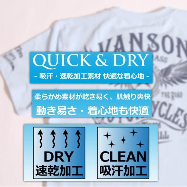 当店別注!VANSON バンソン 新作 吸汗速乾 ドライ半袖Tシャツ ACV-901 スタンダードサイズ|anch-crash|21