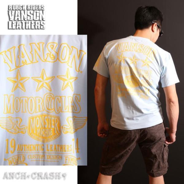 当店別注!VANSON バンソン 新作 吸汗速乾 ドライ半袖Tシャツ ACV-902 スタンダードサイズ|anch-crash|16