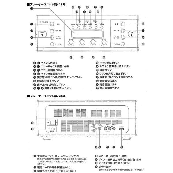 【送料無料】ANABAS(アナバス)DVD-K100  DVD/CD/カセット 多機能リモコン 家庭用カラオケ機 本体 カラオケDVDで楽しめる!保証付き