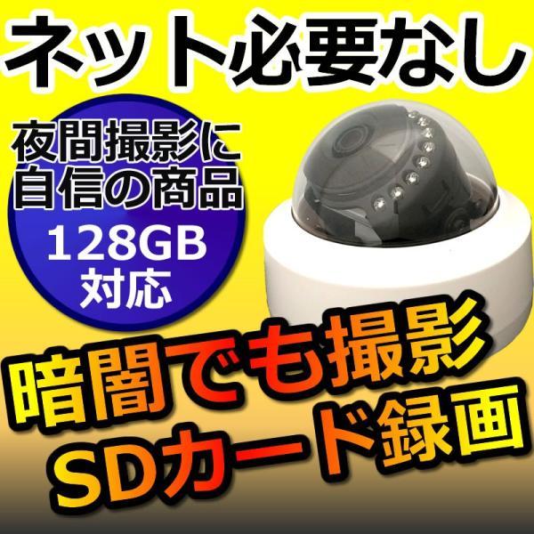 防犯カメラ ドーム  sdカード録画 屋内 家庭用   高画質 SDカードキャンペーン|andavision